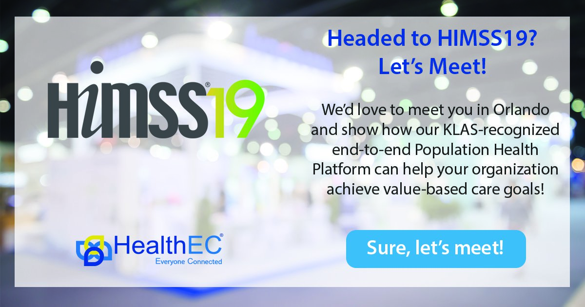 HIMSS19 Lets Meet Banner